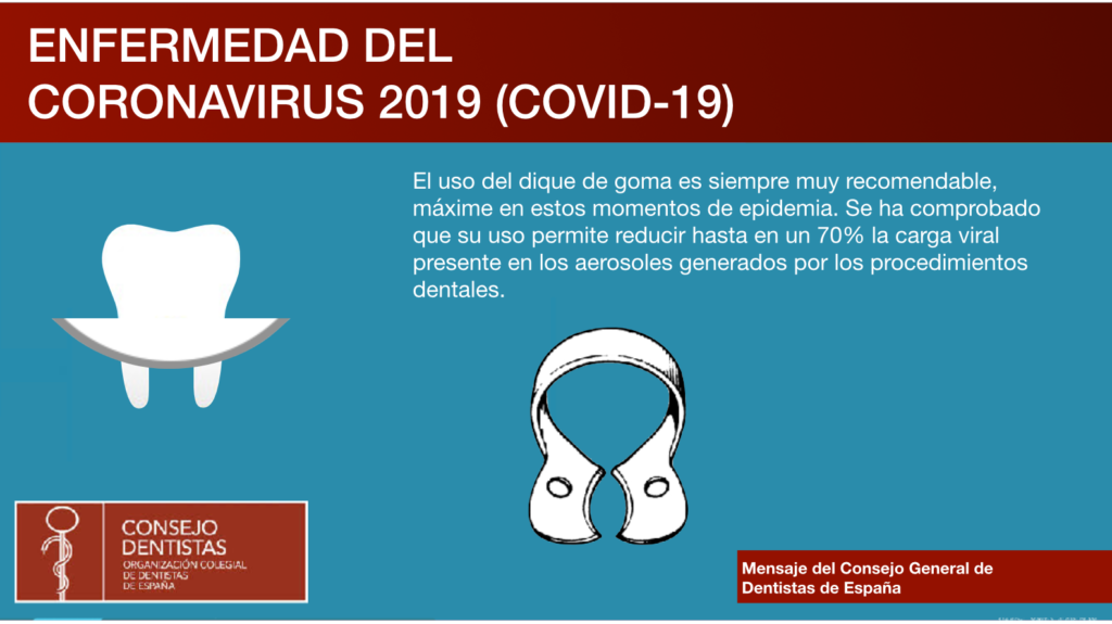 Dique de goma Protocolo Clinica Dental Murtra Coronavirus