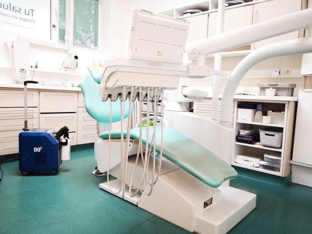 Desinfección cabina dental Covid-19 horizontal